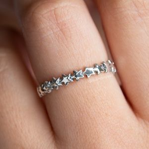 ⭐️NEW Infinity Star Ring on Sterling Silver 925